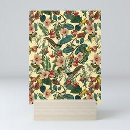 FLORAL AND BIRDS VII Mini Art Print