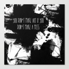 Graphic_ARt quote  Canvas Print