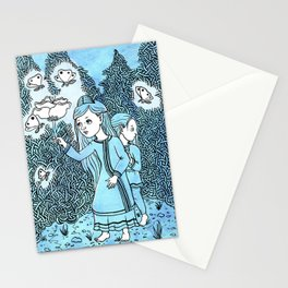 Sprites and Siblings Stationery Cards
