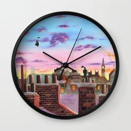 Mary Poppins and Bert Wall Clock