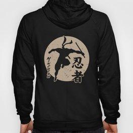Ninjutsu Sun Master Ninja Martial Art Fighting Gold Hoody