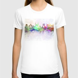 Tehran skyline in watercolor background T-shirt