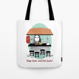 No Face Kaonashi Spirited Away with Sushi Tote Bag