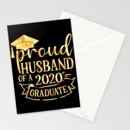 Proud Husband of A 2020 Graduate Stationery Cards