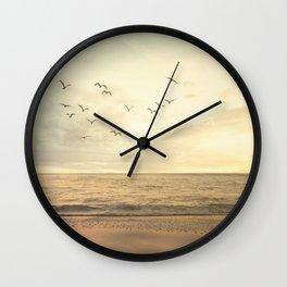 Beachful Easy Feeling Wall Clock