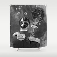 eugenia loli Shower Curtains featuring Ascension by Eugenia Loli