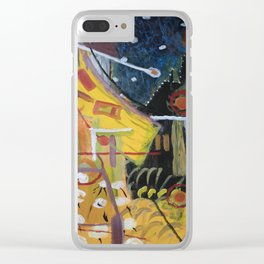 Cafe Terrace at Night a la Mela Clear iPhone Case