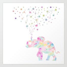 MAKE ME HAPPY ELEPHANT Art Print