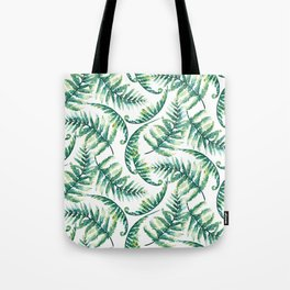 Lush green fern leafs pattern Tote Bag