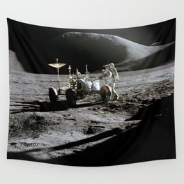 Apollo 15 - Moonwalk 1971 Wall Tapestry