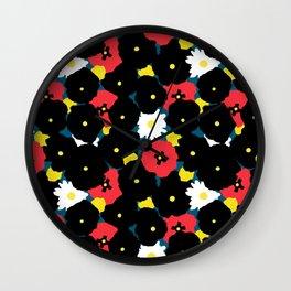 Minimalist Autumn Floral Wall Clock