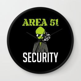 Unidentified Flying Object Security Wall Clock