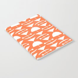 Retro Mid Century Modern Abstract Mobile 653 Orange Notebook