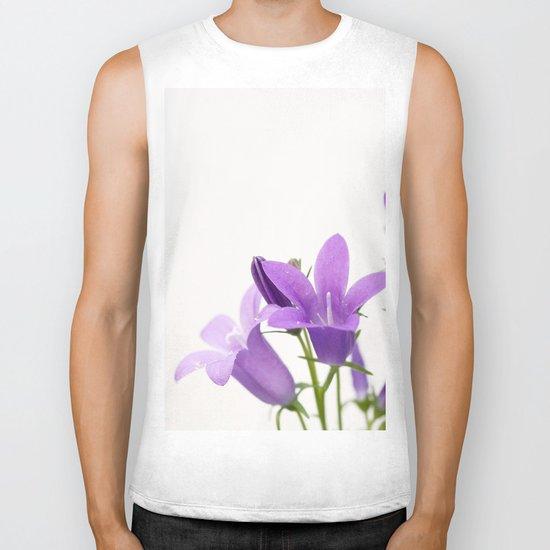 PURPLE FLOWERS - Bellflowers #2 #decor #art #society6 Biker Tank