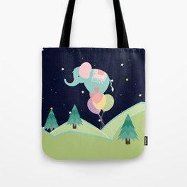 Elephant with Balloons, nursery decor , Tote Bag