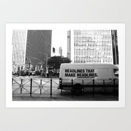 New York Post Truck, Manhattan Art Print