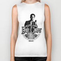 dale cooper Biker Tanks featuring Dale Cooper - Twin Peaks by KevinART