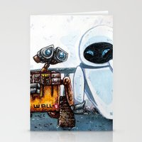 wall e Stationery Cards featuring Wall-E by Agui-chan