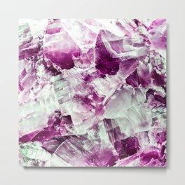 Garnet crystal detail Metal Print