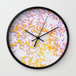 camouflage texture in yellow Wall Clock