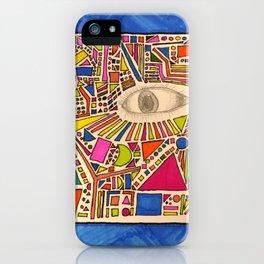 Tribal Eye Geo Melee iPhone Case