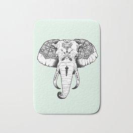 Elephant Tattooed Bath Mat