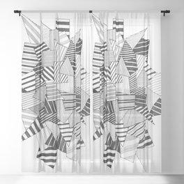 abstract crystal Sheer Curtain