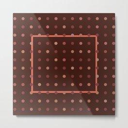 Burgundy Dots Metal Print