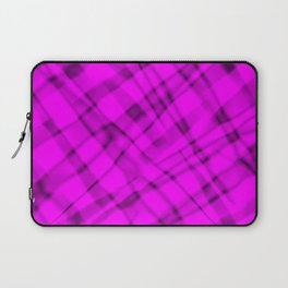 Bright metal mesh with pink intersecting diagonal lines and stripes. Laptop Sleeve