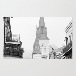 French Quarter Foggy Morning - New Orleans Rug