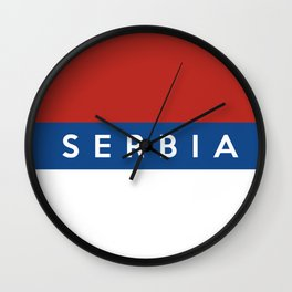 Serbia country flag name text Wall Clock
