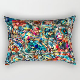 Colorful 3D Abstract Rectangular Pillow