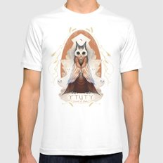 Ytuty Lord of Owls White MEDIUM Mens Fitted Tee