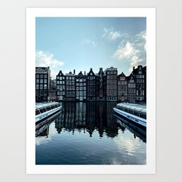Amsterdam Canal Houses | Cityscape travel photography wall art | Buildings Architecture Art Print Art Print