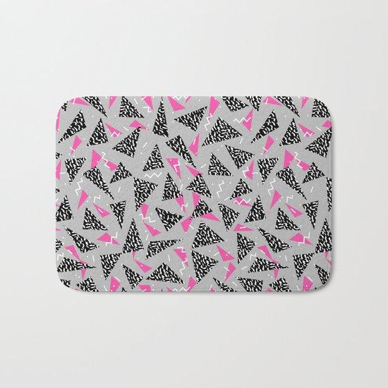 Trizza - triangle zig zag modern minimal trendy pattern print gender neutral non binary art for all Bath Mat