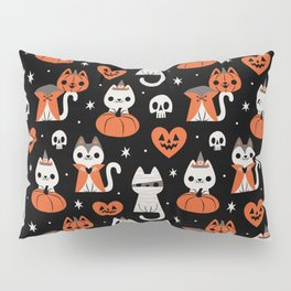 Halloween Kitties (Black) Pillow Sham