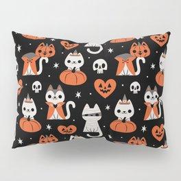 Halloween Kitties (Black) Pillow Sham