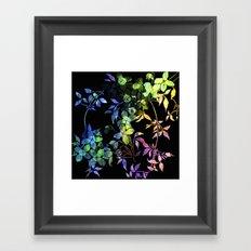 garland of flowers black version 2 Framed Art Print