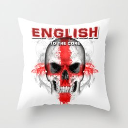 To The Core Collection: England Throw Pillow