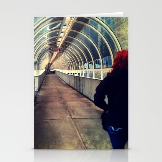 Onward Into The Tunnel Forbidden  Stationery Cards