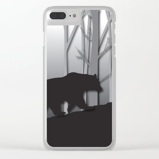 Walking Bear Clear iPhone Case