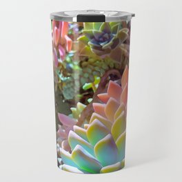 Succulent Rainbow Travel Mug