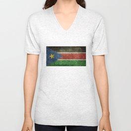 Republic of South Sudan national flag - Vintage version Unisex V-Neck