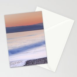 Pink waves. Sunset Stationery Cards