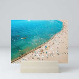 Keep Calm And Think Of The Beach   Aerial Print   Beach Print   Waves Art Print   Modern Wall Art Mini Art Print