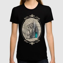 Follow The White Rabbit - Vintage Book T-shirt