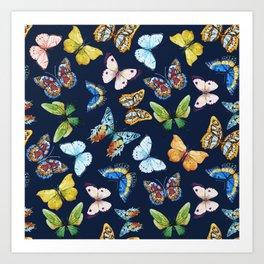 Butterfly Pattern 03 Art Print