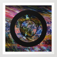 Space Marble Art Print
