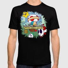 Treasure Tracked: Captain Toad's Fortune Mens Fitted Tee MEDIUM Black