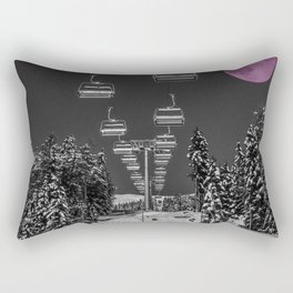 Chairlift to the Fuchsia Moon Rectangular Pillow
